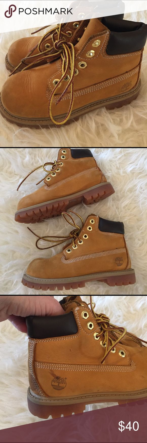 Timberland Boots Toddler Boy Timberland boots in great condition.  Barely worn, but they have a few stains as pictured.  No wear on the soles. Timberland Shoes Boots
