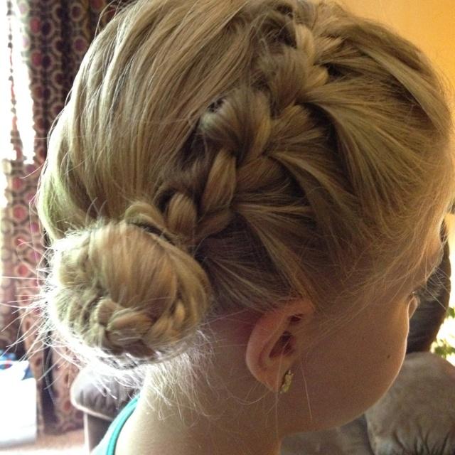 Braided Bangs Into A Side Bun Hair Pinterest Buns