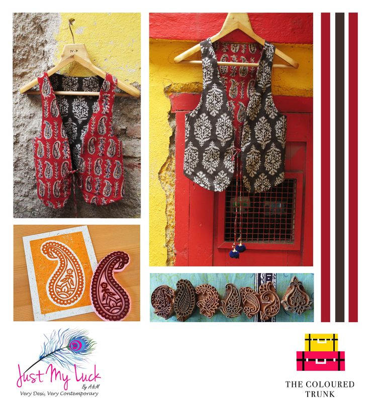"‪#‎TCTSPOTLIGHT‬ This weeks featured label is Just My Luck by A&M. A brand that fuses Indian fabrics and prints like Ikats, Kalamkaris, Bandhanis with western silhouettes, to give you garments that are ""Very Desi and Very Contemporary""!  ‪#‎TCT‬ loves their use of complementing colour palette and intricate ‪#‎KalamkariPrint‬ on this ‪#‎ReversibleVest‬ .   SIGN UP WITH ‪#‎TheColouredTrunk‬ TO GET AN EXCLUSIVE 20% OFF!!"