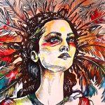 Inspirada por disciplinas como la ilustración y el street art; las coloridas obras de Delfín demuestran la versatilidad y fuerza de la forma femenina a través de obras que funcionan en diferentes niveles.