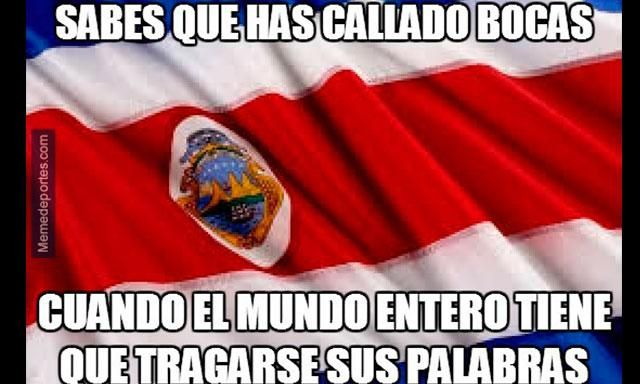 Meme tras el triunfo de Costa Rica sobre Italia.