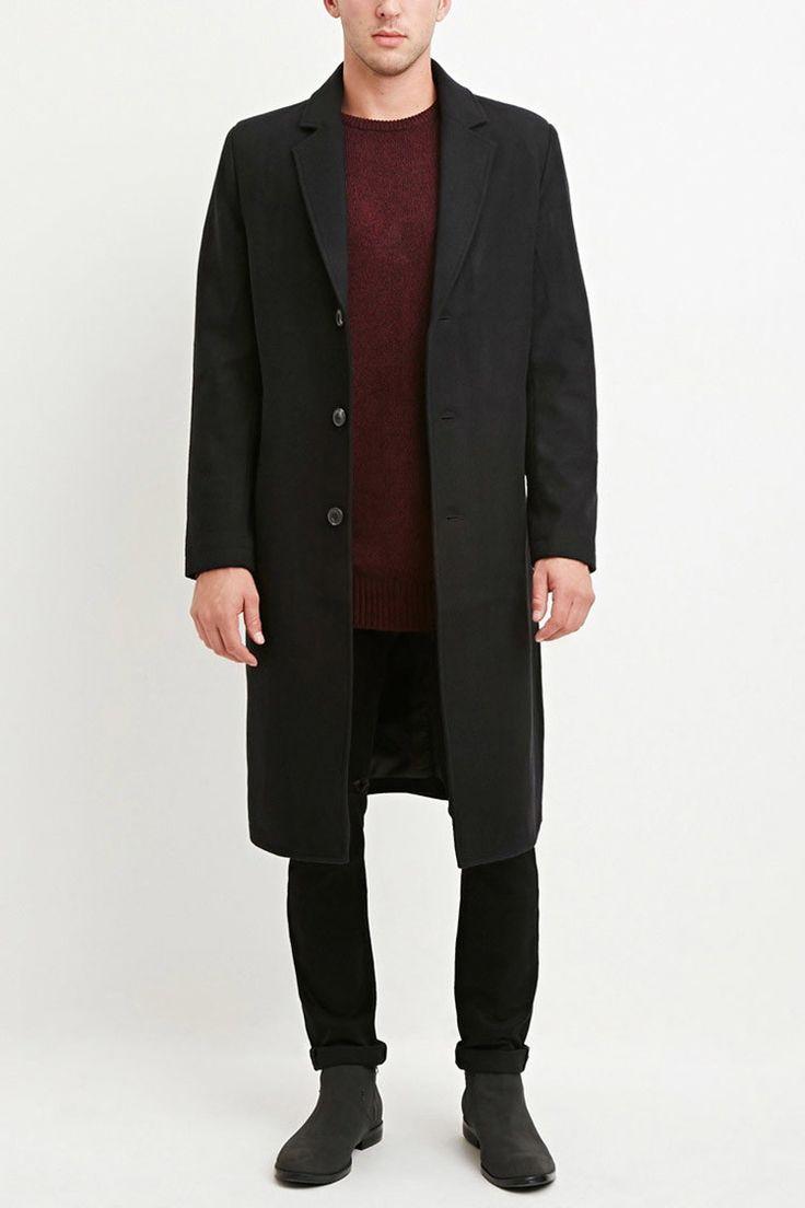 Wool-Blend Longline Coat