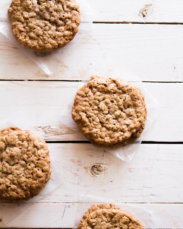Cinnamon Honey Oatmeal Cookies at Chasing Delicious.