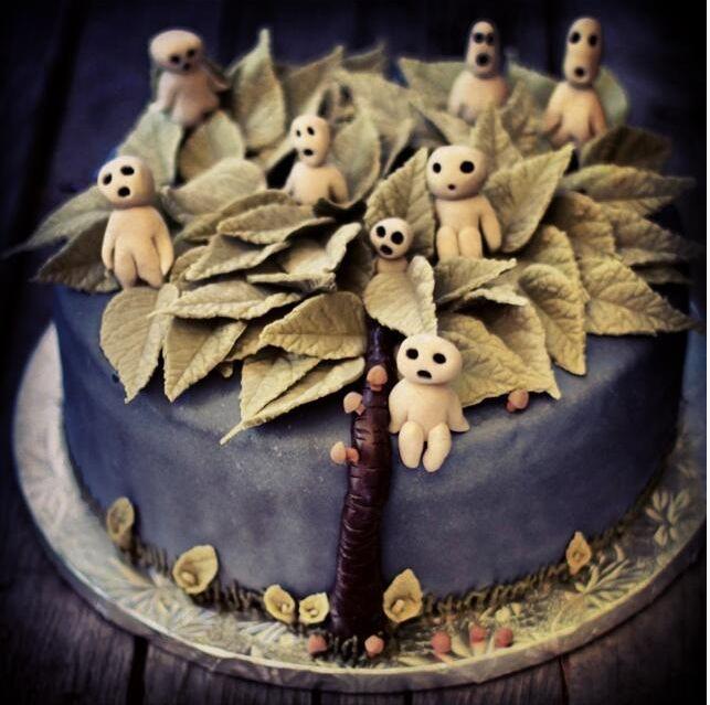 Kodama cake, studio ghibli food
