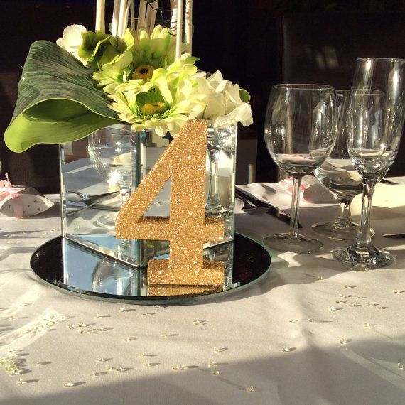 Birthday party number birthday party decoration for Glitter numbers for centerpieces