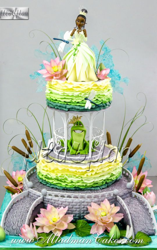 Princess and the frog Theme Cake
