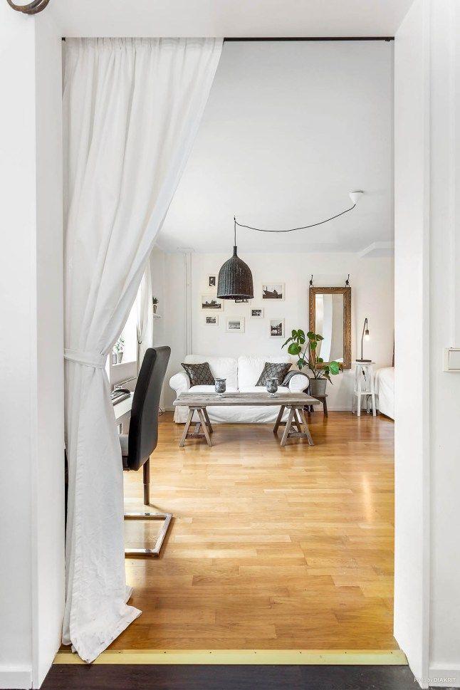 Un estudio de 33 m2 decorado con muebles recuperados | Decoración