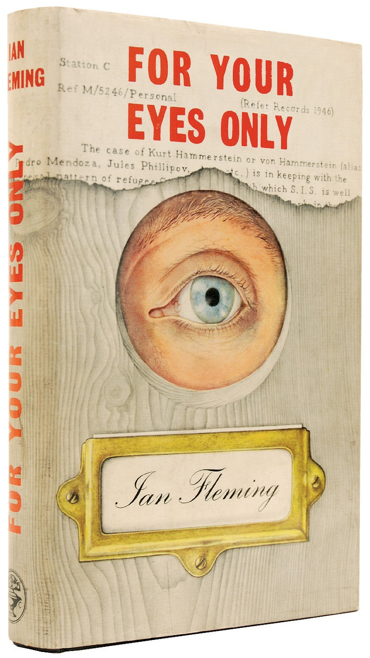 For your eyes only. Ian Fleming. 1960. 1st edition 1st print. Original jacket