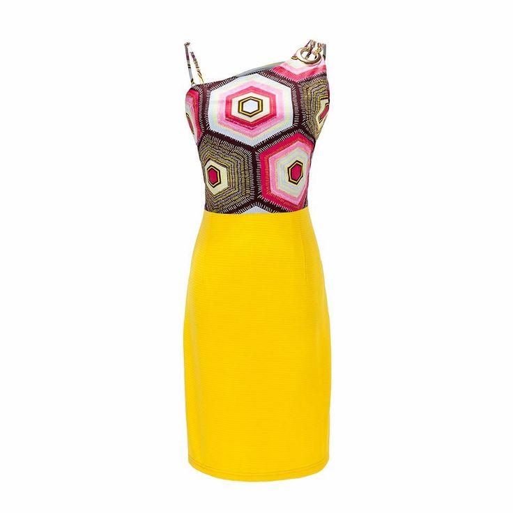 Tochi Tochiafriq.com ladies dress Ankara royal yellow