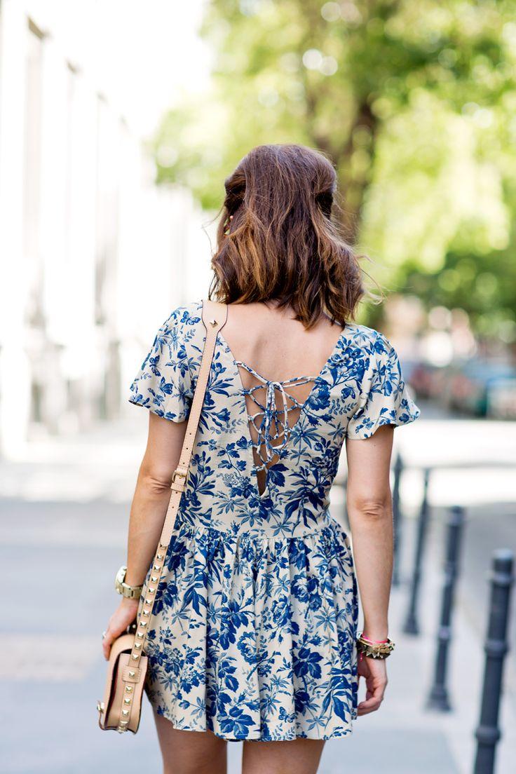 Dress + short hair.