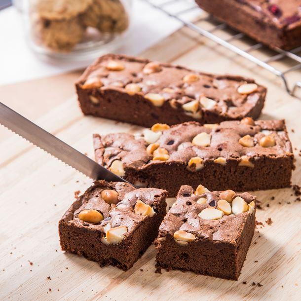 Brownies chocolat et noix sans lactose
