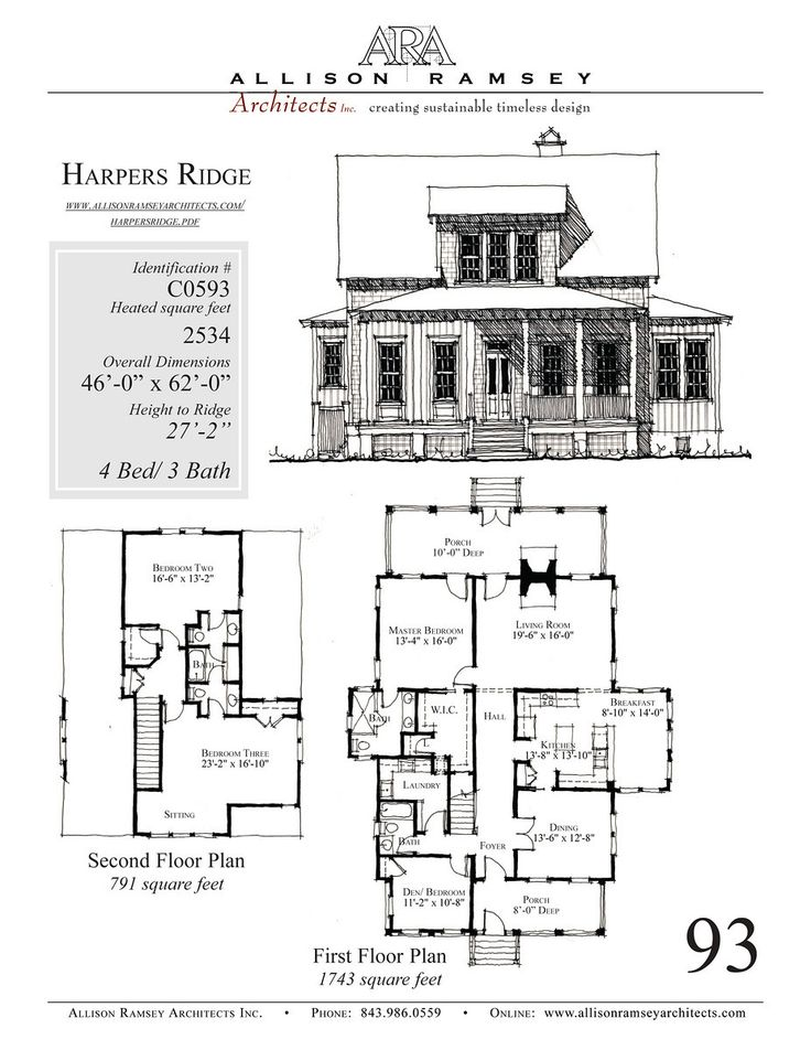 Harpers ridge allison ramsey architects house plans in Allison ramsey house plans