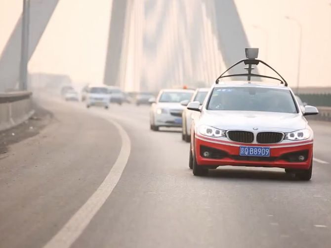 Baidu Successfully Tests Its BMW Series 3 Autonomous Vehicle