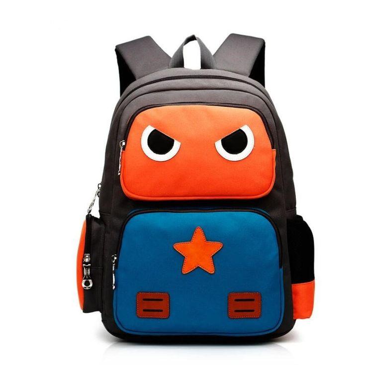 Super Cute NEW Cartoon Robot High-Quality Waterproof Children's Backpack 4 Colors