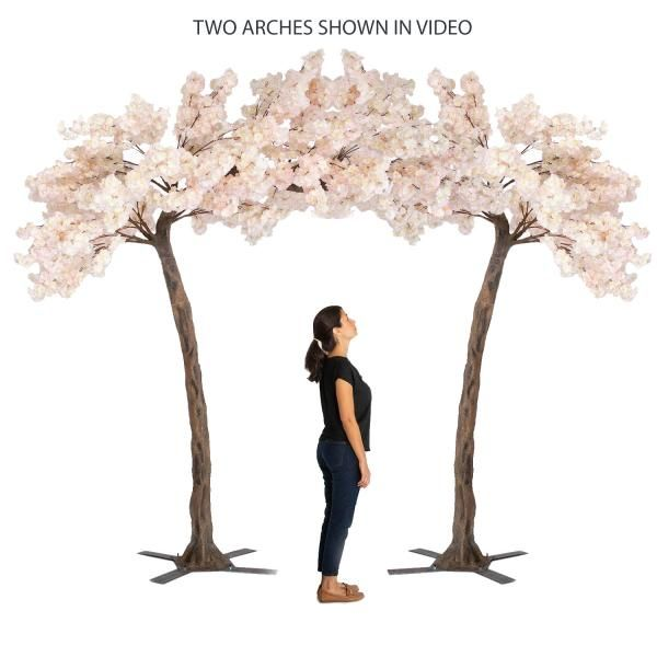 11 Feet Tall Grand Arch Fake Cherry Blossom Tree Blush Light Pink In 2021 Artificial Cherry Blossom Tree Wedding Tree Decorations Cherry Blossom Tree