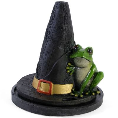 Witches Hat With Frog Incense Burner designed by Lisa Parker. Holds one incense cone. Size approx 12cm. £8.50 from Clouds Online UK.