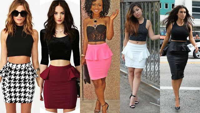 Midriff top & skirt | For a more formal look, wear a long-sleeve ...