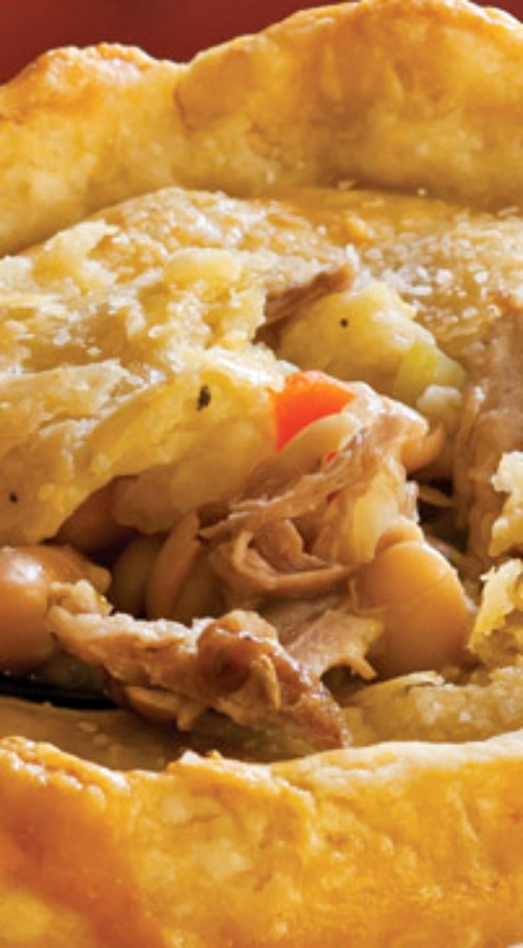 Roasted Pork and White Bean Pot Pies ~ Both the filling and crust for these pot pies can be made ahead and refrigerated overnight.
