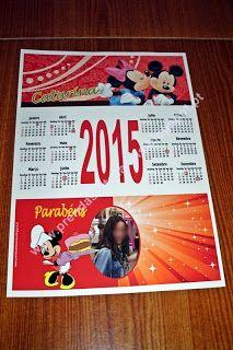 Mickey e Minnie - Calendário Personalizado