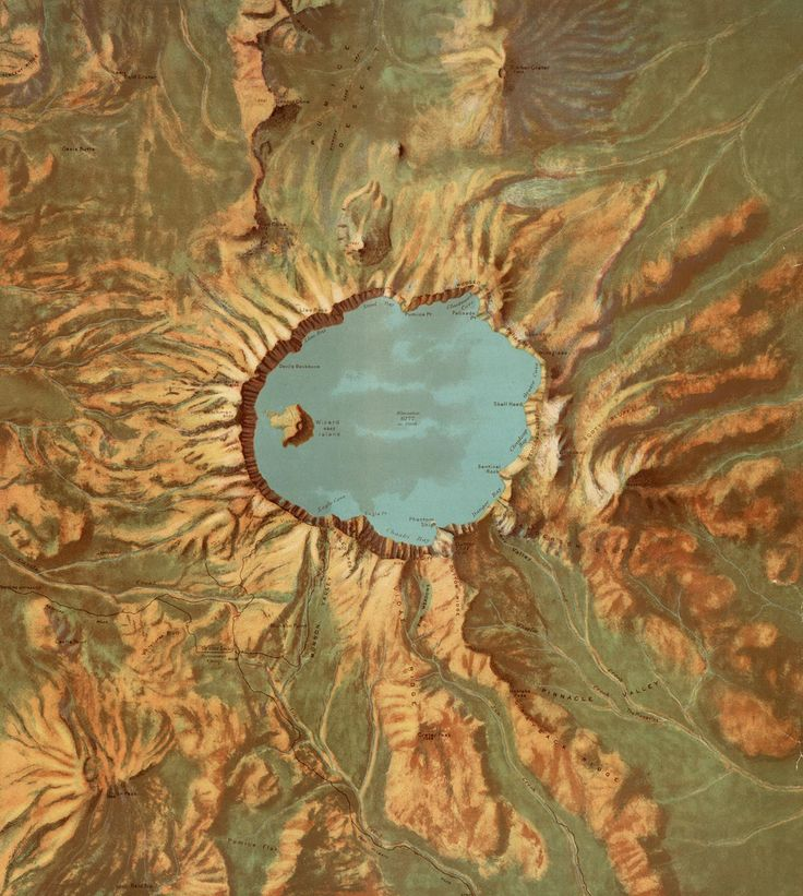 Best Maps Images On Pinterest Fantasy Map Cartography And - Us map crater lake