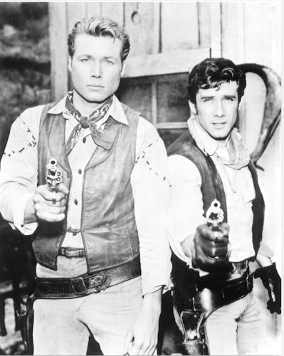 Laramie - TV western 1959-1963  Set in  1870s Wyoming Territory. Slim Sherman and his 14-year-old brother Andy try to hang on to their ranch after their father is shot by a land grabber. They augment their slight cattle ranch income by serving as a stagecoach station near Laramie. The brothers were helped by their father's long time friend named Jonsey who was their cook and house keeper and helped run the relay station.