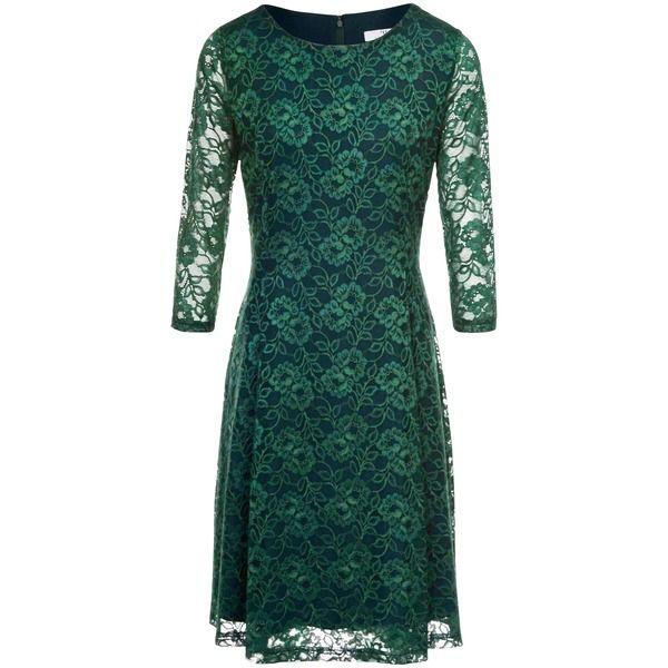 Spitzen-Kleid 3/4-Arm Peter Hahn grün