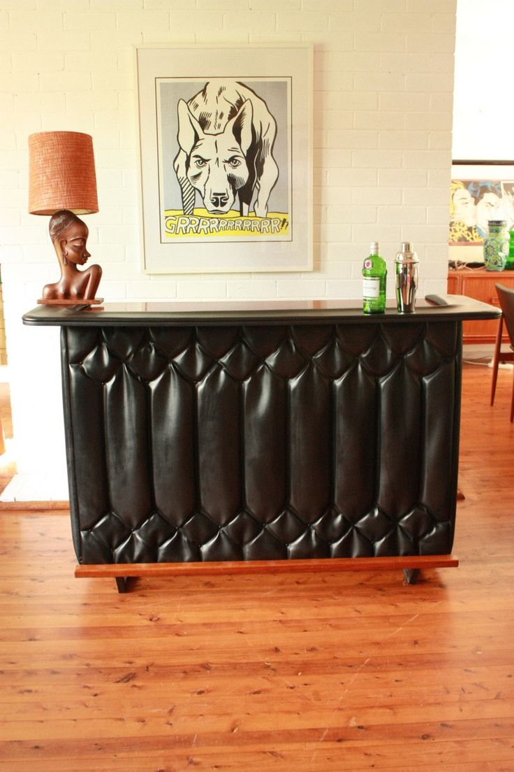 Mid Century Cocktail Bar Teak Top and Doors by TriBecasVintage on Etsy