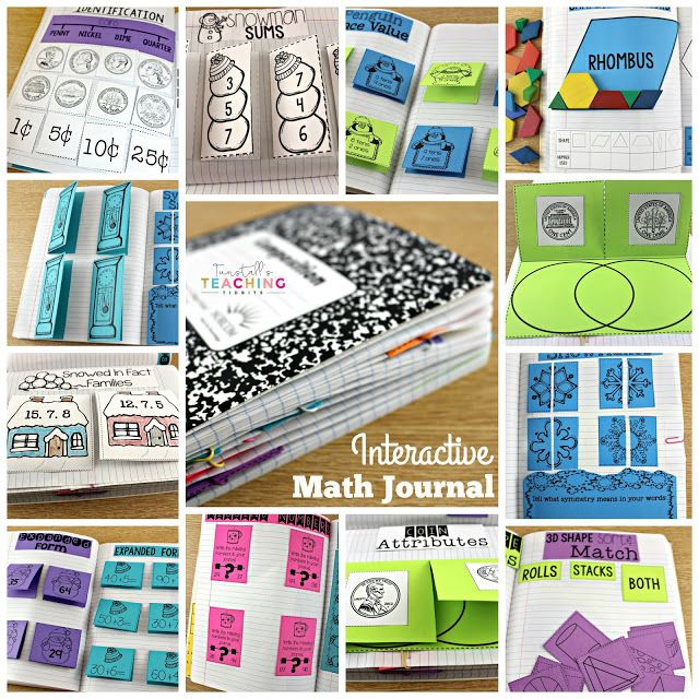 Classroom Journal Ideas ~ Math journals for first grade ideas the