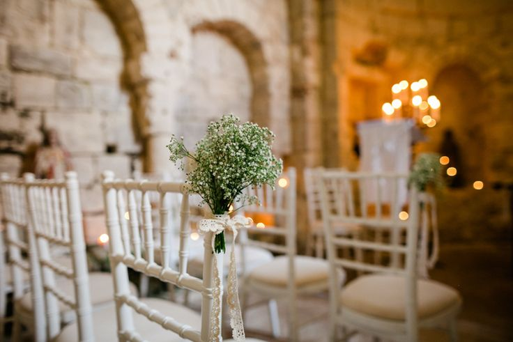 Image by The Lous Photography. - A French Destination Wedding At Chateau de Lisse With An All White Bouquet And The Primrose Dress by Louise Selby By The Lous Wedding Photography.