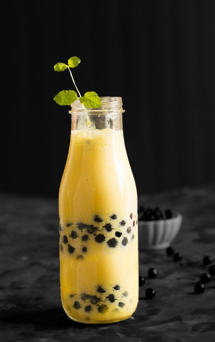 Mango boba smoothie recipe is made with fresh mango ...