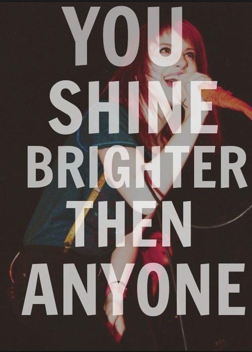 Paramore lyrics | Brighter | Words to Live By | Pinterest Paramore Lyrics