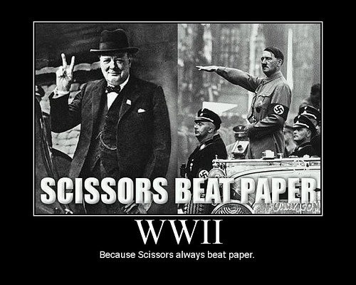 More history humor: Laughing, Rocks Paper Scissors, Jokes, History Humor, Funny, Beats Paper, Winston Churchill, Scissors Beats, True Stories