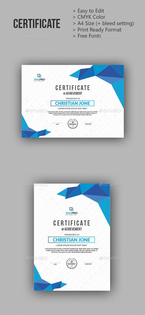Certificate Design Template Ai Illustrator Certificate Templates