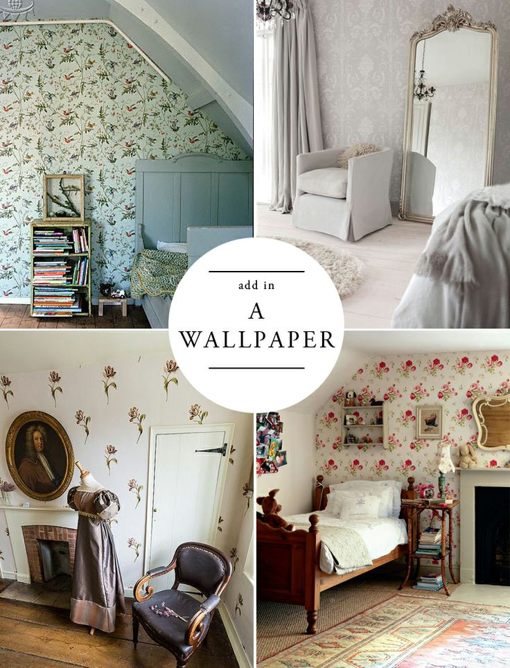 For a Modern English Home: Add in a Wallpaper