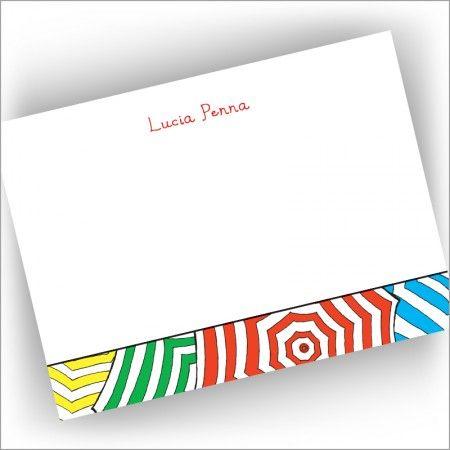 Capri Umbrellas Correspondence Cards