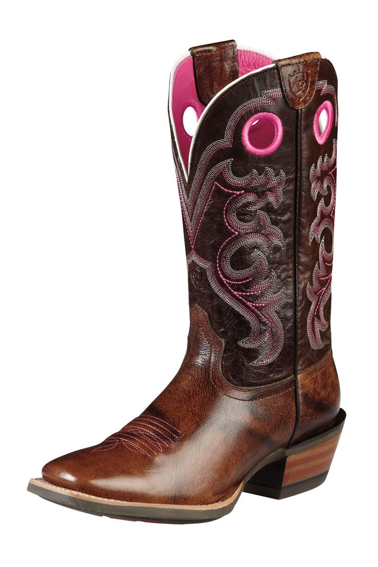 Ariat crossfire brown cowgirl boots