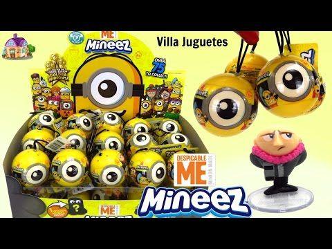 (1177) 30 Nuevas Esferas Sorpresa de Minions Mineez de Despicable Me o Mi Villano Favorito Mineez - YouTube