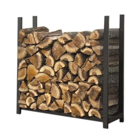 Features:  -Black finish.  -Made of steel.  -Traditional style.  -Powder coat frame finish.  Product Type: -Log rack.  Finish: -Black.  Material: -Steel.  Number of Items Included: -3. Dimensions:  Ov