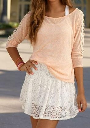 Sheer top over a fitted dress...cute idea!