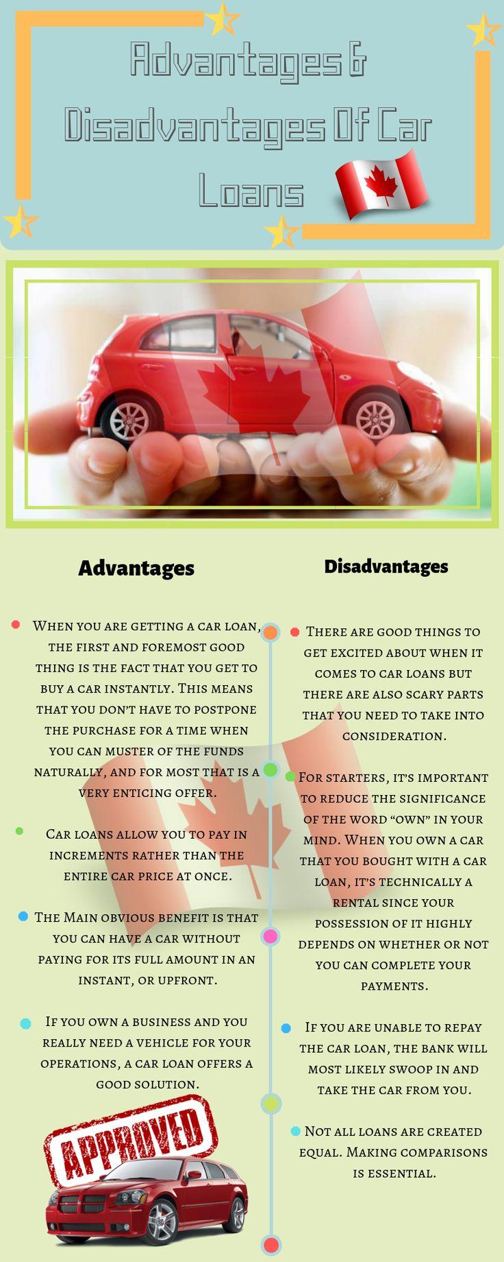 Advantages & Disadvantages of Car Loans Car loans, Loan