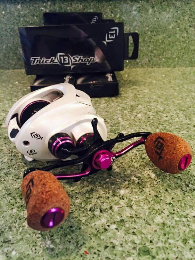 13 fishing has a cool custom shop on their website. One of a kind reels for your one of a kind style.