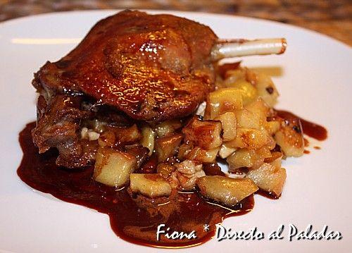 Confit de pato con pittypanna de manzana y foie