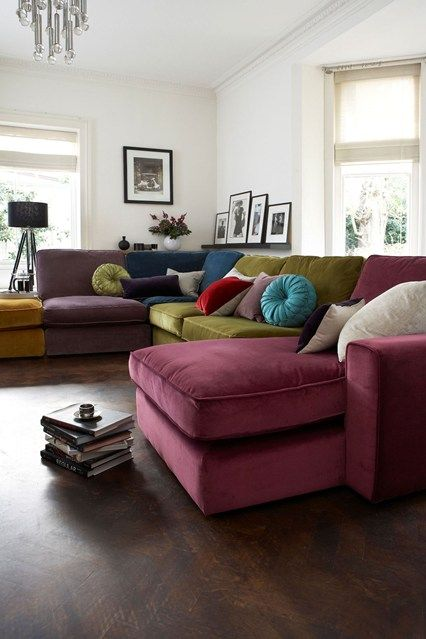 Colourful Sofa - Living Room Design Ideas & Pictures - Decorating Ideas (houseandgarden.co.uk)