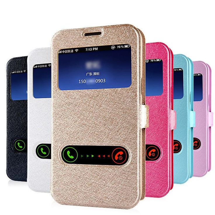 Luxury Smart Front Window View Leather Flip Case For samsung galaxy s4 s5 s6 j5 A5 Grand Prime case Coque Cover ** Continue to the product at the image link.