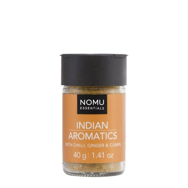 NOMU Spice Blends - Indian Aromatics: A taste of India! An aromatic blend of spices to make the perfect curry. Equally versatile over poultry, meat or vegetables.