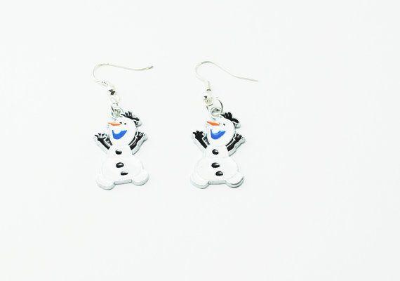 Olaf congelé le bonhomme de neige Disney argent pendentif Charm boucles d'oreilles Costume Cosplay