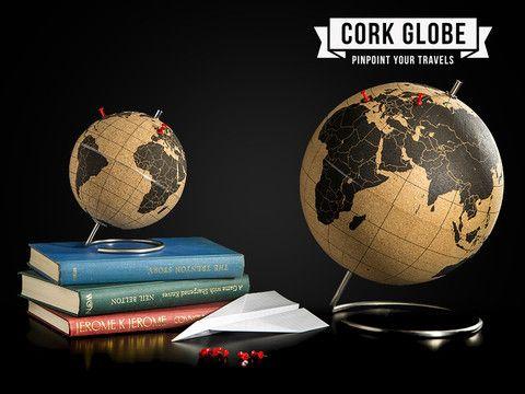 Globusen Cork Globe ,Plott inn jordomseilingen!