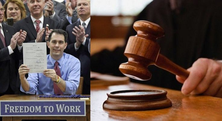 "BREAKING: Judge Strikes Down Scott Walker's ""Right-To-Work"" Law As Unconstitutional"