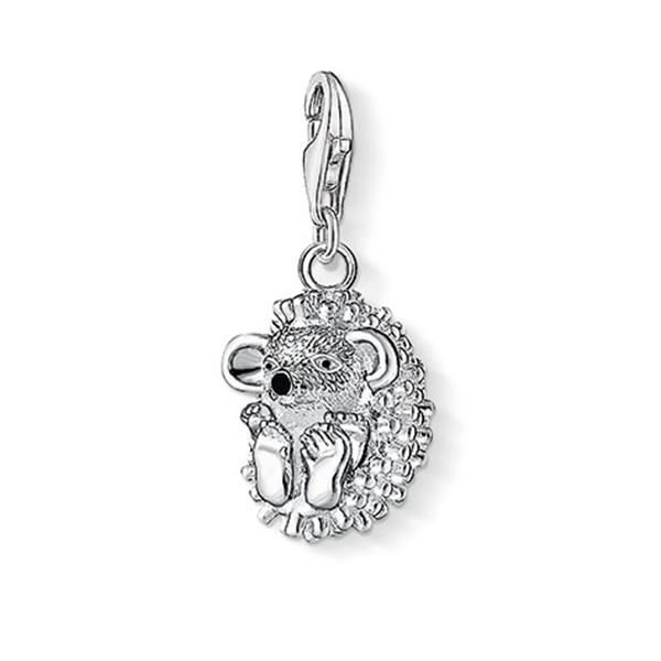 Thomas Sabo Women-Charm Pendant Cocktail Charm Club 925 Sterling Silver 18k yellow gold blue red 1039-427-1 xV7Rid