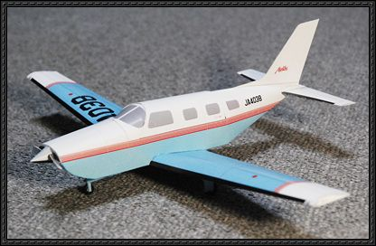 Piper PA-46 Free Airplane Paper Model Download